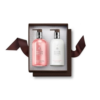 Rhubarb & Rose Hand wash and hand lotion set, 300ml
