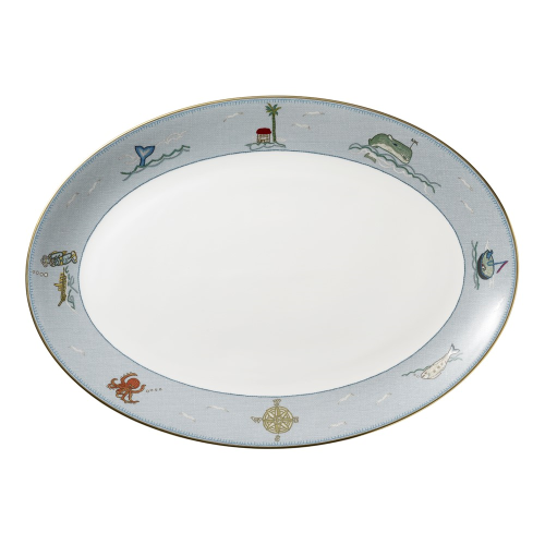 Sailors Farewell Oval platter, L35 x W28cm