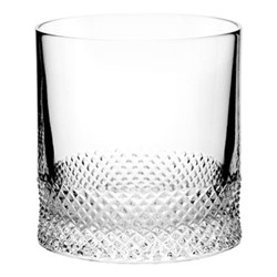 Diamond Single old fashioned tumbler, H8 x D7.6cm - 190ml, clear
