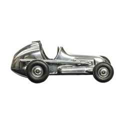 Hornet Model car, H9.5 x W13.5 x L24.5cm, polished aluminium