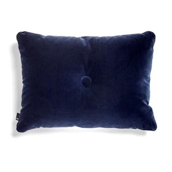 Dot Velvet cushion, W60 x H45cm, navy