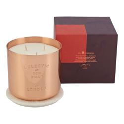 Eclectic London Medium candle, H8.5 x W8 x D8cm, Copper