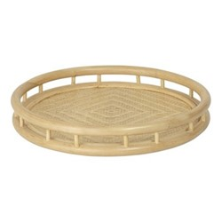 Rattan Queen Round tray, H6 x Dia40cm, nature