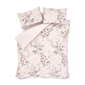 Canterbury Easy Care King size duvet set, 220 x 230cm, blush