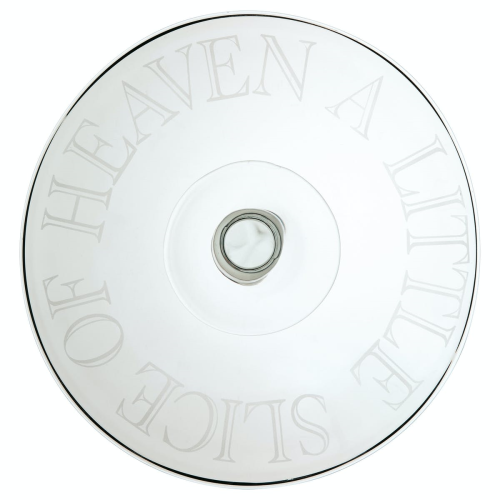 Master Class - Artesa Footed cake stand, 30 x 11cm, Etched Glass