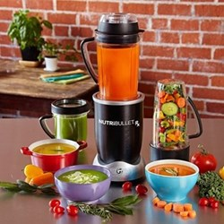Juicer and blender with 10 accessories H16 x W16 x D44cm