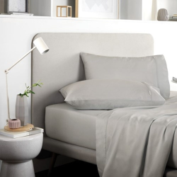 Tencel King size fitted sheet, 152 x 203 x 38cm, Dove