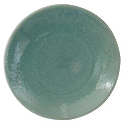 Tourron Pair of dinner plates, 26cm, Jade