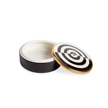 Op Art Round box, Black/White
