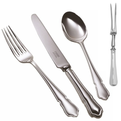 Dubarry Carving fork, Silver Plate