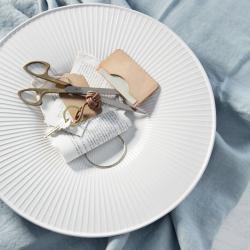 Hammershoi Dish, H3.5 x W40cm, White