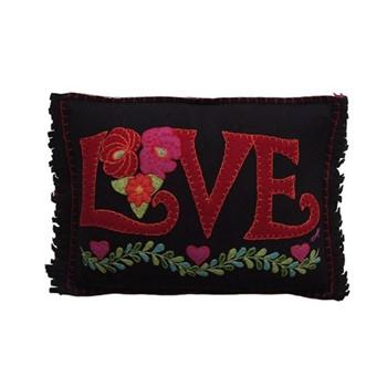 Fiesta Cushion, Love, 36 x 28cm, black