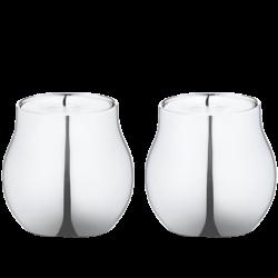 Cafu Pair or tealight holders, 5.8cm, stainless steel