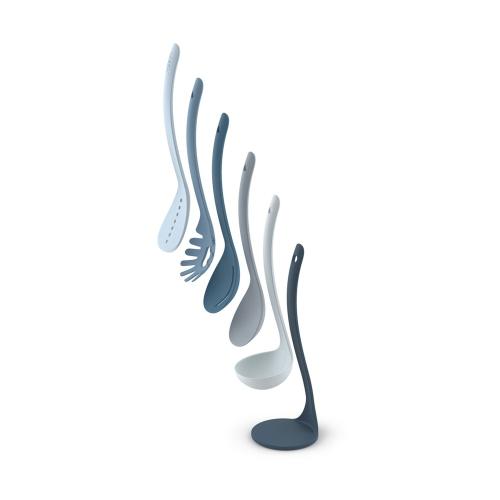 Editions 5 piece utensil set, Sky Blue