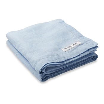 Linen beach towel, baby blue