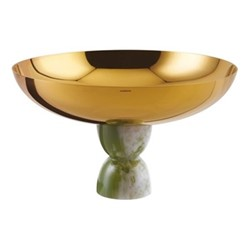 Madame Footed bowl, Dia26 x H15.3cm, gold