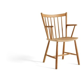 J42 Solid oak chair, W57.5 x D53.5 x H87cm, oak