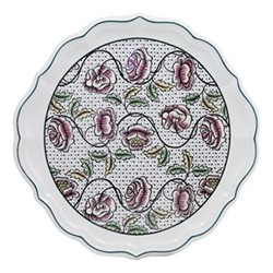 Dominoté - Roses Cake plate, 30cm