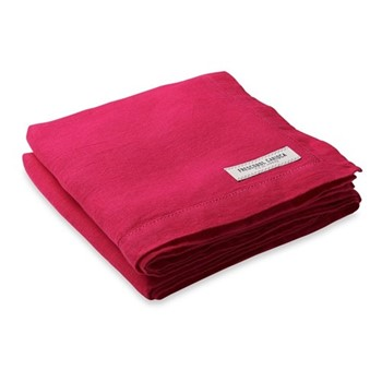 Linen beach towel, pink