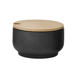 Theo by Francis Cayouette Sugar bowl, H5.5cm - 10cl, black