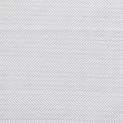 Herringbone Polypropylene indoor/outdoor rug, W76 x L244cm, pearl grey/white