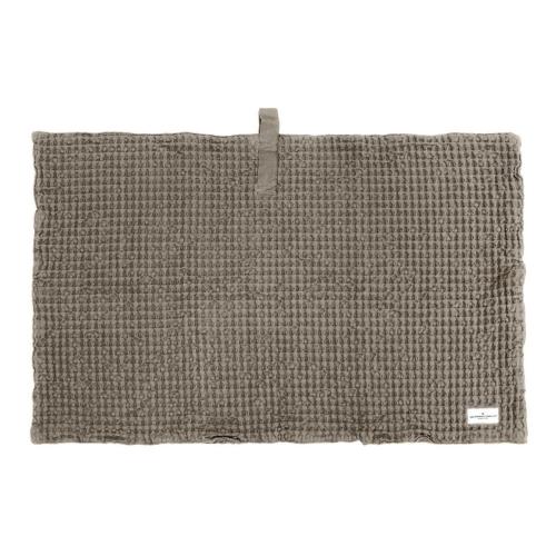 Waffle Bath mat, 80 x 55cm, Clay