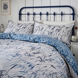 Blowing Grasses Super king size duvet cover, L220 x W260cm, blue
