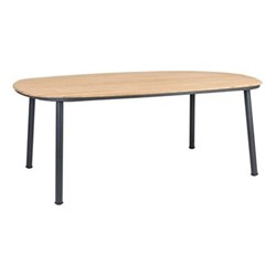 Cordial Dining table, 200 x 120cm, grey/oak