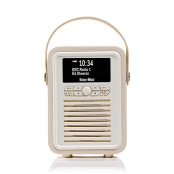 Retro Mini DAB radio, H22.4 x W14.7 x D10.5cm, cream