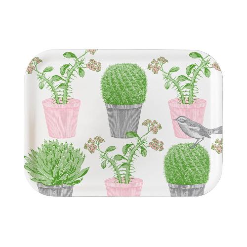 Cactus & Bird Small tray, 27 x 20cm