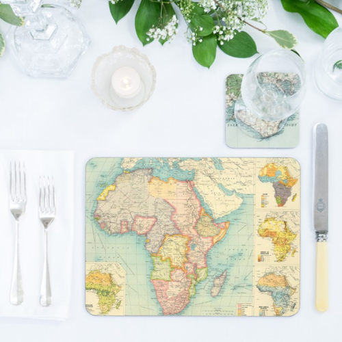 Set of 12 personalised map placemats, 29 x 22cm