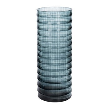 Ribbed vase, W10 x L10 x H25cm, midnight blue