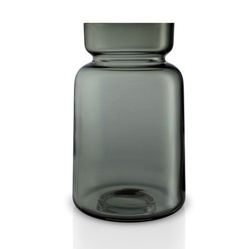 Silhouette Vase, H22 x Dia14cm, Smoke Glass