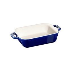 Rectangular baking dish, 19 x 12 x 4.3cm, dark blue