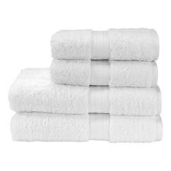 Renaissance Pair of hand towels, L50 x W100cm, white