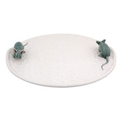 Cheese Tray with mouse, 31.5 x 5cm, natural