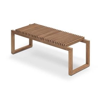 Cutter Bench, W121 x D40 x H43.5cm, teak