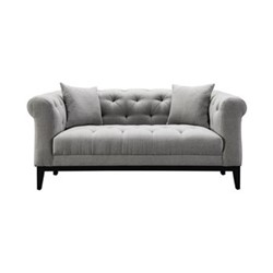 Fiorella Small sofa, W170 x H72.5 x D98cm, grey/black