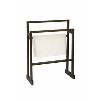Mezza Large towel rail, H80 x W65 x D23cm, dark brown