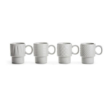 Coffee & More Set of 4 espresso mugs, 10cl, white