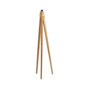 Tripod Wooden floor lamp - base only, D42 x H148cm., ash