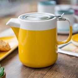 Barcelona Teapot, 1.2 litre, mustard