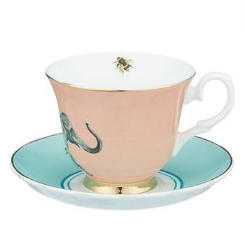 Elephant Set of 6 teacups, H8 x D14cm
