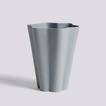 Iris Large ceramic vase, H17 x L14cm, grey