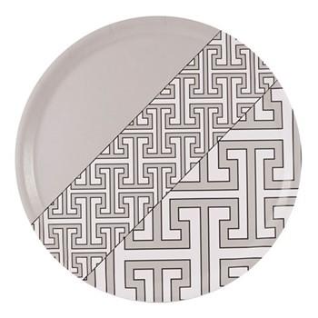 Maze Round tray, D38cm, grey