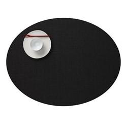 Mini Basketweave Set of 4 oval placemats, 36 x 49cm, black