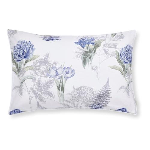 Botanical King size duvet set, 220 x 230cm, White/Blue