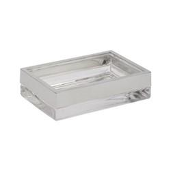 Castor Soap dish, L14.3 x W9.8 x H3.5cm, glass nickle