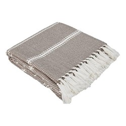 Oxford Stripe Throw, L230 x W130cm, monsoon