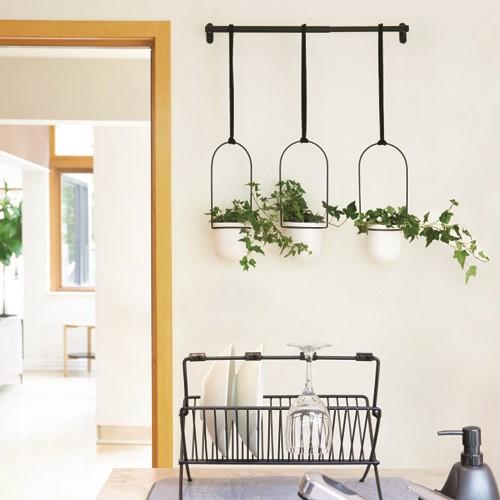 Triflora Hanging planter, 63 x 107 x 15cm, White